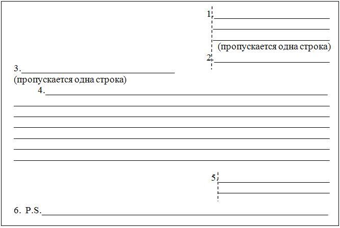 Структура письма