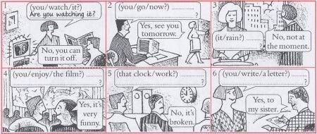 Упражнения на время Present Continuous с ответами